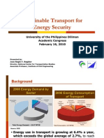 16 Sustainable Transport for Energy Security - Dr. Jose Regin F. Regidor