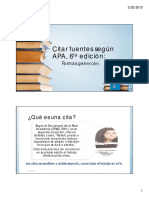 Citar Fuentes APA 6ta edicion