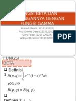 Fungsi Khusus - Fungsi Beta Dan Kaitannya Dengan Fungsi Gamma