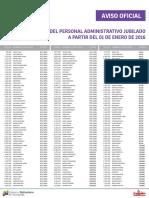 Lista de Personal Administrativo Jubilados ME Enero 2016 - Notilogía