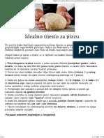 Idealno Tijesto Za Pizzu - Savrsena Pizza - Gastro