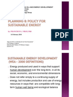 16 Planning & Policy for Sustainable Energy - Dr. Francisco L. Viray