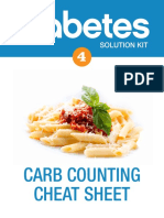 Diabetes Carb Counting Cheat Sheet v2