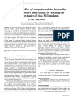 The retention effect of computer assisted instruction (CAI) on student's achievement for teaching the chemistry topics of class VIII students