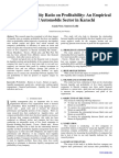 Impact of Liquidity Ratio on Profitability