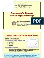 16 Renewable Energy for Energy Security - Prof. Rowaldo Del Mundo