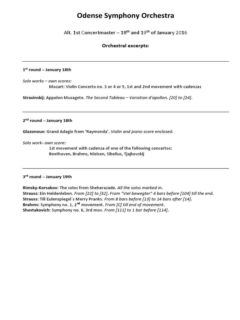 Concertmaster - Excerpts Uddrag