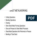 Sheetmetal Working
