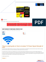 How to Increase TX Power Signal Strength of WiFi