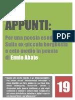Appunti - Ennio Abate