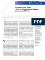 Clarithromycin and Statins