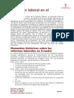 Evolución laboral en el ecuador Derecho Laboral 1.docx