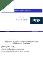 Parcial II, Entrenamiento (Clase Diapositivas)