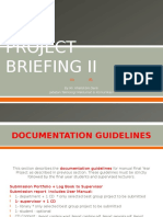 Project Briefing II