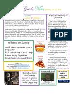 january 18-22 newsletter