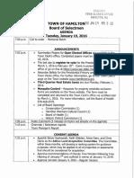 Hamilton Board of Selectmen Agenda, Tuesday, Jan. 19, 2016
