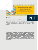 Seminario Internacional. Territorios, Culturas y Buen Vivir