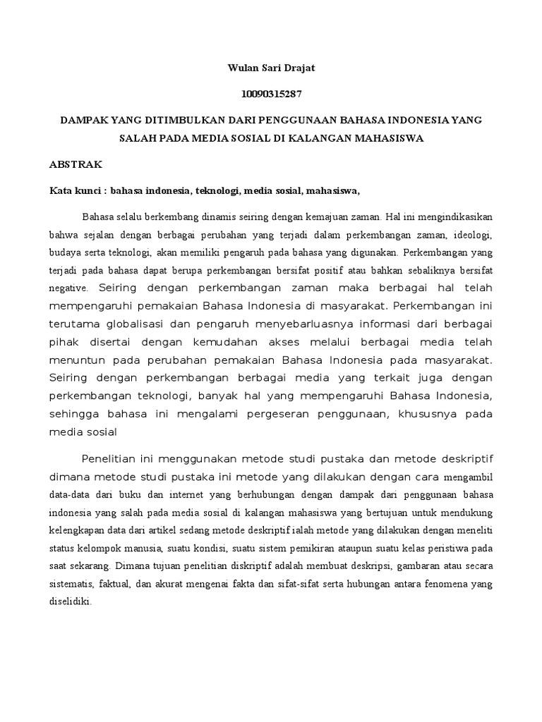 Spin Artikel Bahasa Indonesia