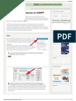 Cómo Instalar Wordpress en XAMPP