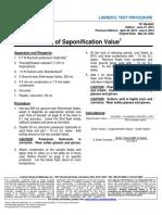 TP TM 006C Saponification Value