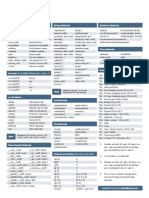 Python Cheatsheet v1