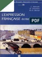 L'Expression Française Écrite Et Orale Exercies Pour Étudiants Étrangers de Niveau Avancé