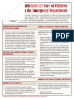 Pediatric Readiness Guidelines Checklist