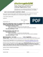 Generic Registration Form HOLOTROPIC November