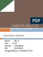 Diabetes Mellitus-case Report