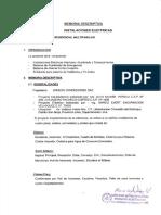 WI AVA InstElectricas MemoriaDescriptiva 20111007