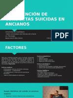 Intervención de Conductas Suicidas en Ancianos