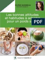 Les bonnes attitudes et habitudes à adopter pour un poids santé