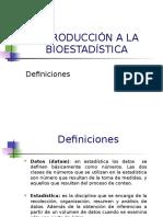 1 Introducción a La Bioestadística (Definiciones)