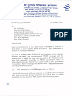 Letter to Facebook from Indian Regulators