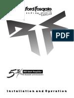 Manual modulo Fosgate 5.3