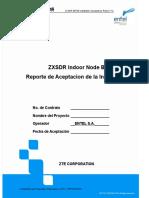 NodeB Indoor Installation Acceptance Report (SPAN)
