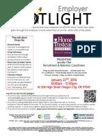 Employer Spotlight Jan 22 2016