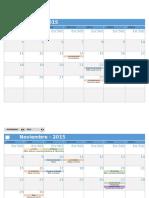 Calendario de Actividades 2015