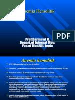 Prof. Barmawi H KULIAH 1  HEMOLITIK ANEMIA   Extracorpusculer haemololytic anemia.ppt
