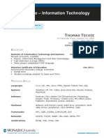 Information Technology Resume