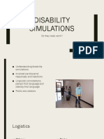 Disability Simulations