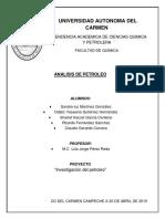 Analisis de Petroleo