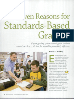 Seven Reasons for Standards-Based Grading, Scriffiny