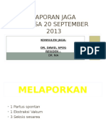 Laporan Jaga 20 September