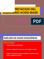 INTERPRETACION DEL EQUILIBRIO ACIDO-BASE