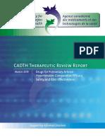 Pulmonary Hypertension Drug Therapy