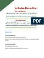 Doa Doa Rumi