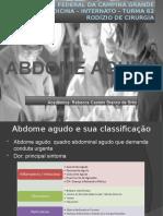 ABDOME AGUDO SEMINÁRIO