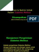 Nutrisi Untuk Pasien DM