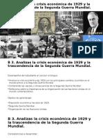 B 3. Crisis de 1929 y 2ª Guerra Mundial